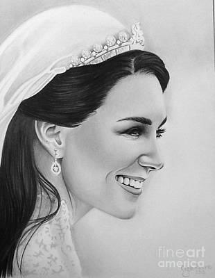 Kate Middleton Drawing - Kate Middleton by Crystal Rosene