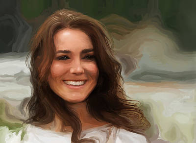 Painting - Kate Middleton by Jennifer Hotai