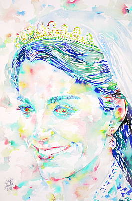 Middleton Painting - Kate Middleton Portrait.2 by Fabrizio Cassetta