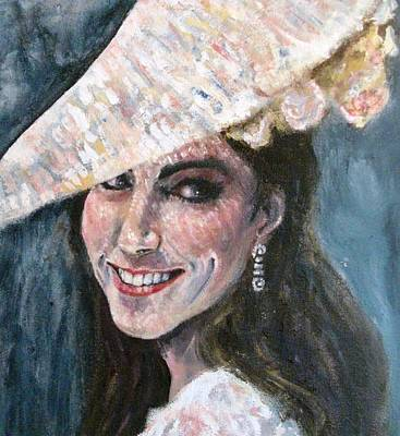 Kate Middleton Painting - Duchess Of Winsor by Yvonne  Taylor