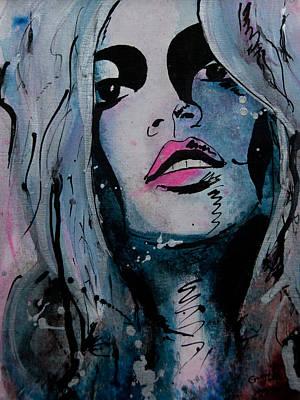 Ikon Mixed Media - Kate Moss by Gracja Waniewska