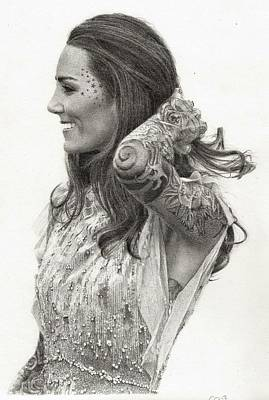 Kate Middleton Drawing - Kate Von D by Chris Riley