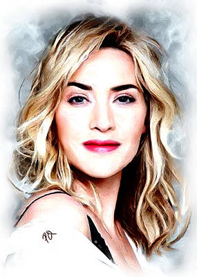 Blockbuster Painting - Kate Winslet by Paul Quarry