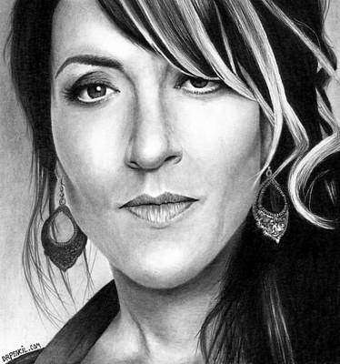 Sons Of Anarchy Drawing - Katey Sagal As Gemma by Rick Fortson
