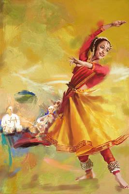 Kathak Dance Art Print by Catf