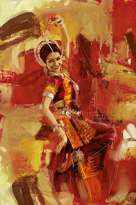 Indian Art Painting - Kathak Dancer 6 by Corporate Art Task Force