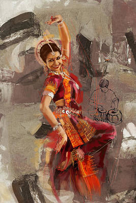 Painting - Kathak Dancer 7 by Catf