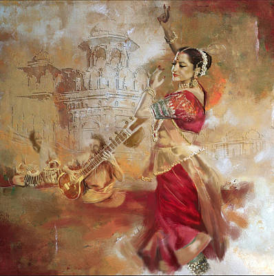 Subcontinent Painting - Kathak Dancer 8 by Corporate Art Task Force