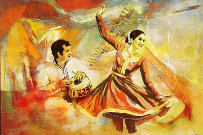 Subcontinent Painting - Kathak Dancer by Catf