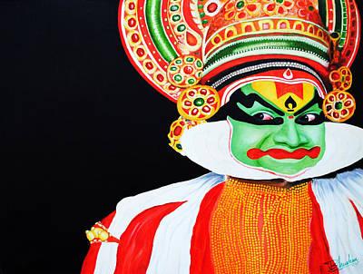 Kathakali Painting - Kathakali by Bhushan Nayak