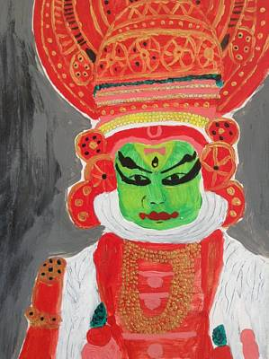 Kathakali Painting - Kathakali by Canvas Kalakari