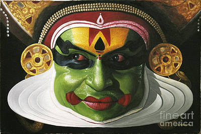 Ancient Indian Art Painting - Kathakali Painting by M Rajesh Kumar