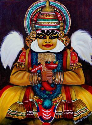 Painting - kathakali.. Lord Shiva by Saranya Haridasan