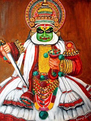 Kathakali Painting - Kathakali by Saranya Haridasan