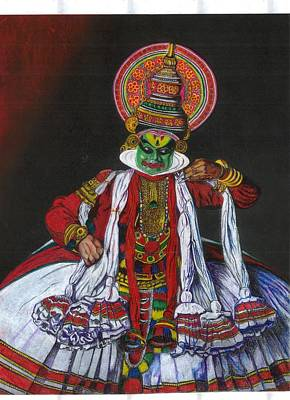 Kathakali Painting - Kathakali by Sheetal Shah