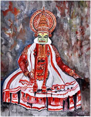 Kathakali Painting - Kathakali by Shilpanath  K S
