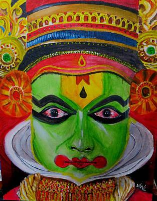 Kathakali Painting - Kathakali by Viny  Mathew
