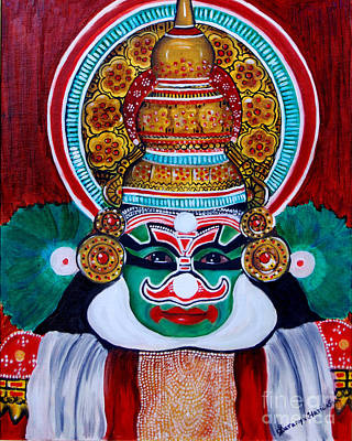 Kathakali Painting - kathakali..Duryodhana by Saranya Haridasan