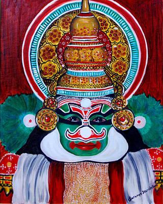 Painting - kathakali..Duryodhana by Saranya Haridasan