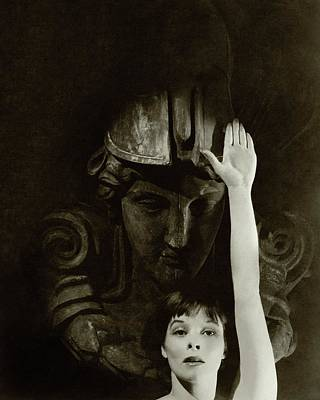 Film Industry Photograph - Katharine Hepburn Raising Her Hand by Cecil Beaton