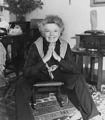 Katharine Hepburn Photograph - Katharine Hepburn Sitting In Her Apartment by Horst P. Horst
