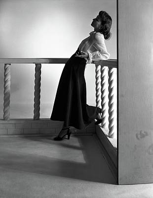 Katherine Photograph - Katherine Bard Wearing A Long Skirt by Horst P. Horst