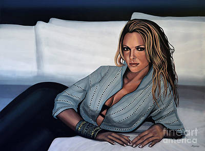 Eve Painting - Katherine Heigl by Paul Meijering