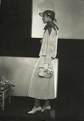 Katherine Hepburn In A Jacket And Dress Art Print