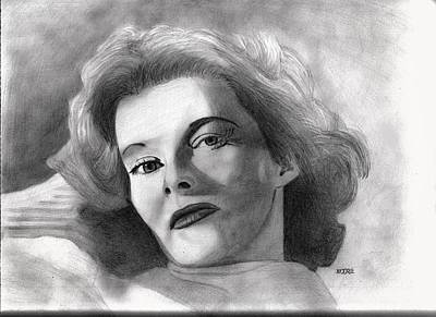Drawing - Katherine Hepburn by Pat Moore