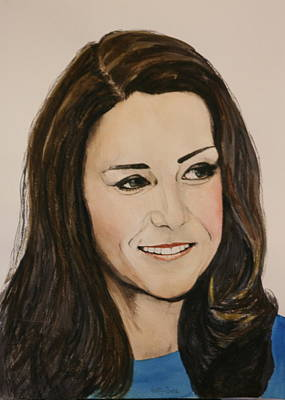 Cambridge Painting - Katherine Middleton Dutchess Of Cambridge by Betty-Anne McDonald