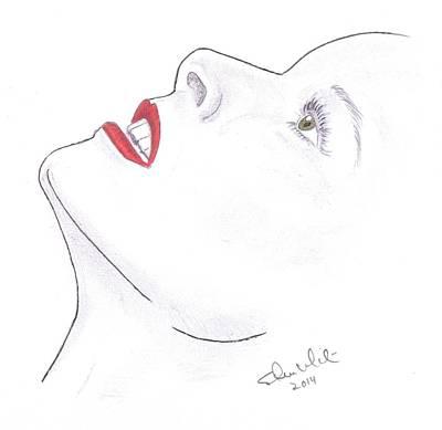 Steven White Drawing - Katherine by Steven White