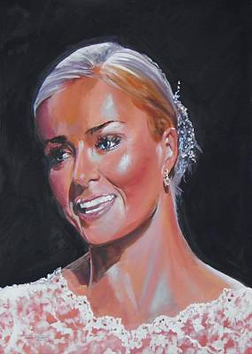 Katherine Jenkins Painting - Katherine by Terence R Rogers