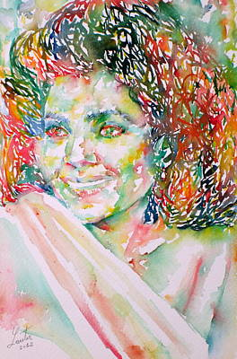 Kathleen Battle - Watercolor Portrait Art Print by Fabrizio Cassetta