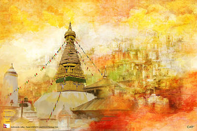 Historic Site Painting - Kathmandu Valley by Catf