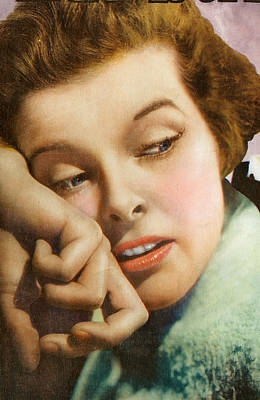 Kathryn Hepburn Art Print by Studio Artist