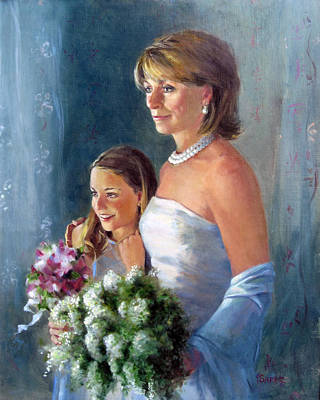 Painting - Kathy And Angela by Chris  Saper