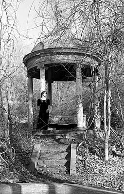 Photograph - Kathy In Gazebo 1979 by Ed Weidman