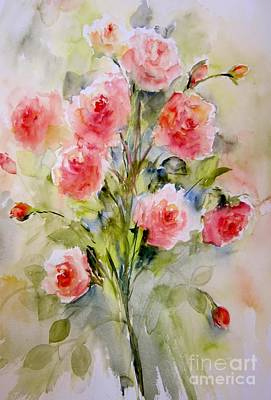 Painting - Kathys Roses by Sandra Strohschein