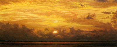 Kathy's Sunset On The Harbor Original by Mary Taglieri