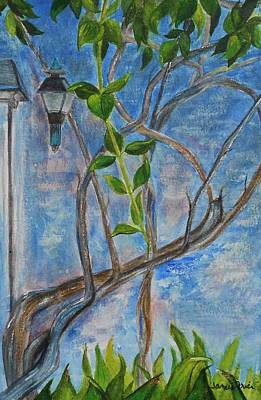 Painting - Kathy's Wall And Vine by Jamie Frier