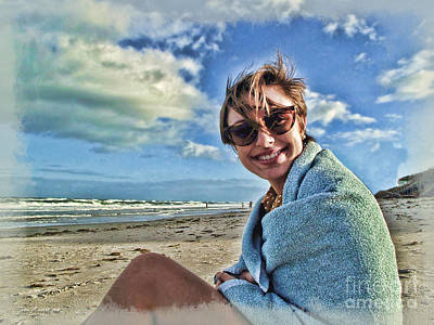 Photograph - Katie And The Beach by Joan  Minchak