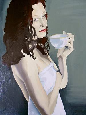 Katie - Morning Cup Of Tea Art Print