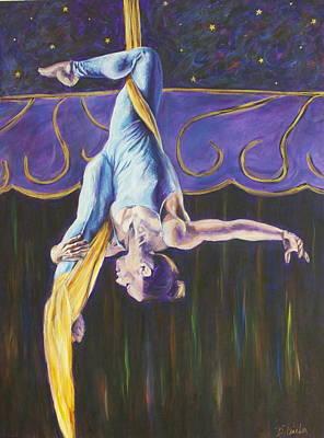 Katie On The Silks Original by Bonnie Peacher