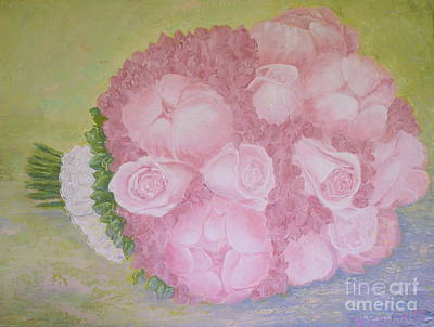 Katie's Wedding Bouquet Art Print by Paul Galante