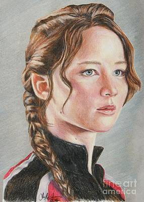 Drawing - Katniss by Christine Jepsen