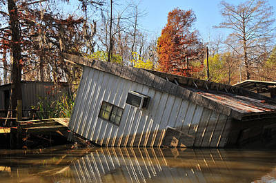 Photograph - Katrina Damage In The Bayou by Brian Hoover