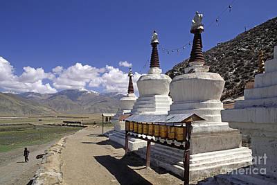 Photograph - Katsel Stupas Tibet by Craig Lovell