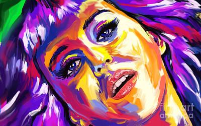 Painting - Katy Perry 01 by Tim Gilliland
