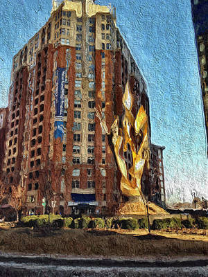 Painting - Katyn Memorial In Baltimore by Chris Montcalmo