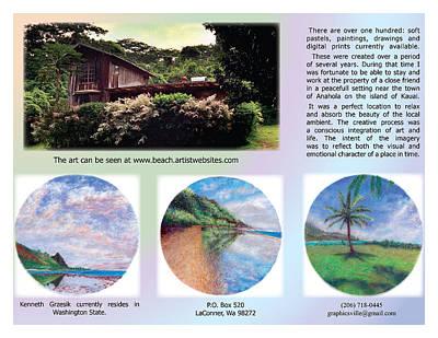 Hawaiian Photograph - Kauai Art Brochure Spread 2 by Kenneth Grzesik